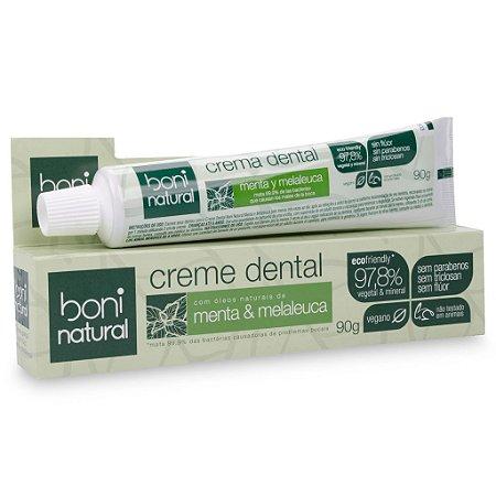 Creme dental natural de Menta e Melaleuca 90gr - Boni