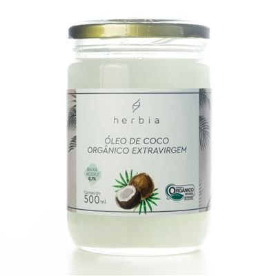 Óleo de Coco Extravirgem Orgânico 500ml - Herbia