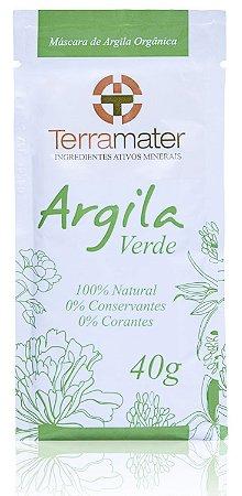 Argila Verde Orgânica 40g - Terramater