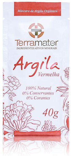 Argila Vermelha Orgânica 40g - Terramater