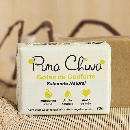 Sabonete Natural Mandarina e Argila Amarela 70gr – Pura Chuva