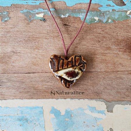 Colar Aromático/ Difusor Pessoal Coração – Naturallice