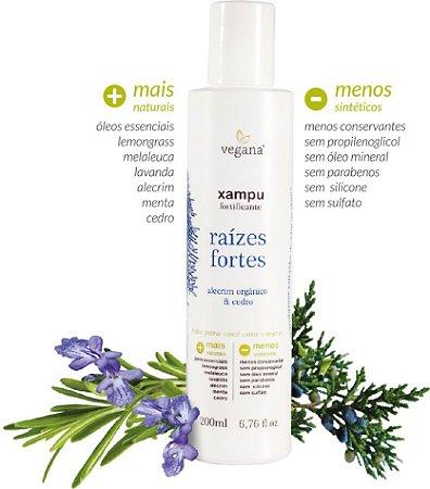 Xampu Raízes Fortes Alecrim 200ml - Vegana by WNF