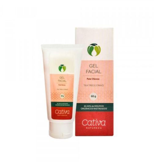 Gel Facial Pele Oleosa 60g - Cativa