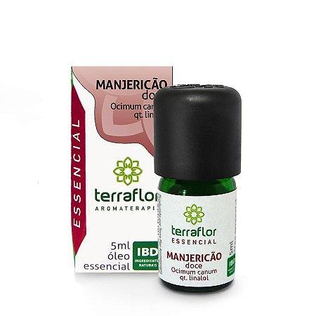 Óleo Essencial de Manjericão Doce 5ml - Terraflor