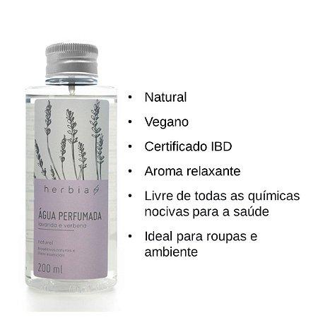 Água Perfumada Refil Lavanda e Verbena 200ml - Herbia