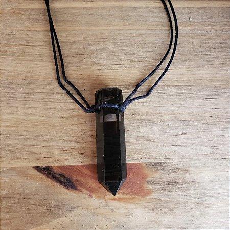 Colar Aromático/ Difusor Pessoal Obsidiana em Ponta – Naturallice