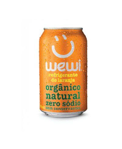 Refrigerante orgânico Laranja Wewi 350ml