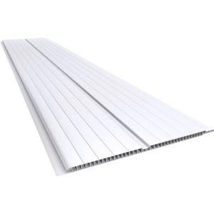 Forro de PVC MADEX 8mm x 20cm x 4 m Branco Gelo (PC)