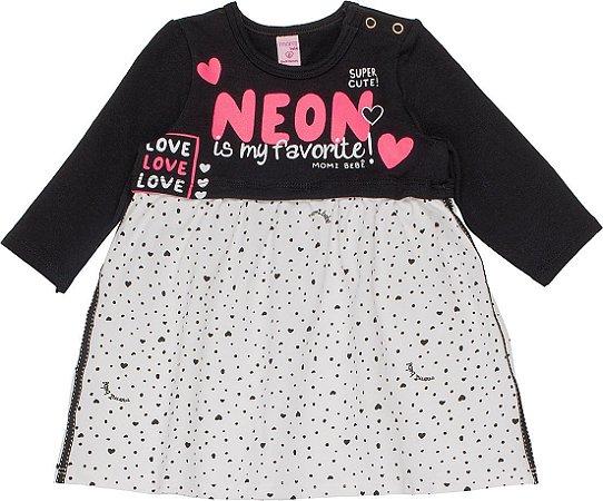 Vestido Infantil Momi Malha Manga Longa 1026