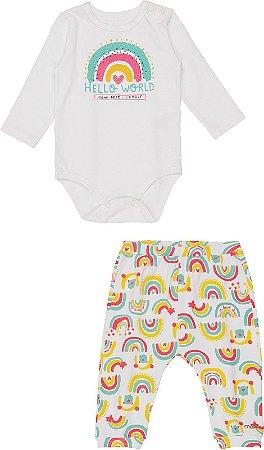 Conjunto Infantil Momi Body e Calça Infantil em Malha 1117
