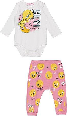 Conjunto Infantil Momi Body e Legging Malha 1106