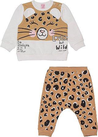 Conjunto Infantil Momi Blusão Infantil e Calça Infantil de Moletom 1103