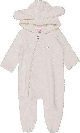 Macacão Infantil Momi em Pelo com Pezinho e Capuz 958