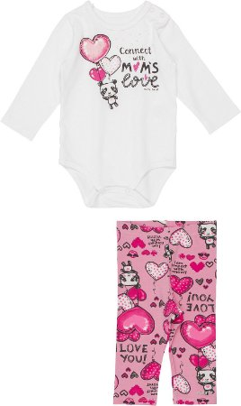 Conjunto Infantil Momi Body e Legging em Malha 1003