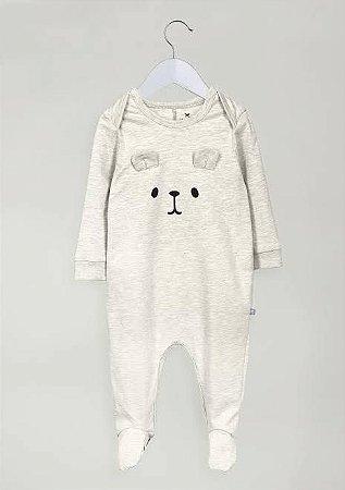 Macacão Infantil Hering Urso em Cotton com Pezinho 58G4