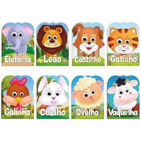 Coleção de Livros Olha Quem Sou! Com 8 Volumes: Cãozinho, Coelho, Elefante, Galinha, Gatinho, Leão, Ovelha e Vaquinha