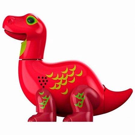 Digidino Brontossauro: Ruge, Canta e Mexe - DTC Vermelho