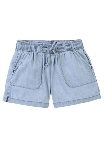 Shorts Infantil Hering Jeans Bolso Elastico Fino C6VZ