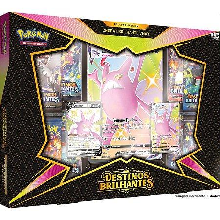Box de Cartas Pokémon VMAX Crobat e Dragapult V