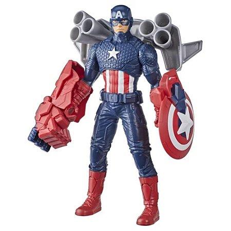 Boneco Capitão América com Gear Marvel - Hasbro F0775
