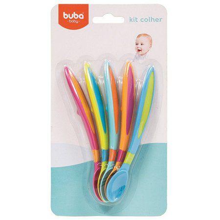 Kit Colher Buba com 5 Coloridas 7531