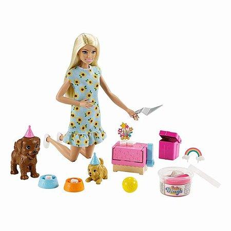 Boneca Barbie Aniversário do Cachorrinho - Mattel GXV75