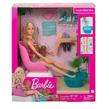 Boneca Barbie Mattel Salão de Manicure - Mattel GHN07