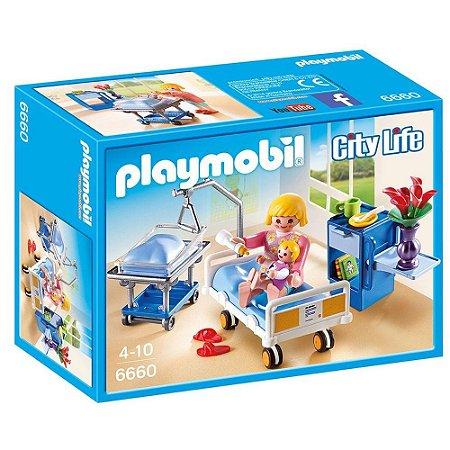 Playmobil City Life Quarto de Maternidade com Mamãe e Bebê - Sunny 6660