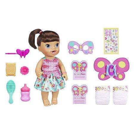 Boneca Baby Alive Borboletinha Hasbro - Morena