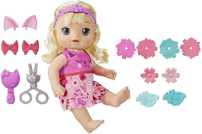 Boneca Baby Alive Corte de Cabelo Penteados Diferentes Hasbro - Loira