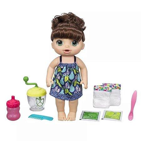 Boneca Baby Alive Papinha Divertida Hasbro - Morena