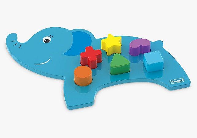 Animais Didático Elefante Azul - Junges