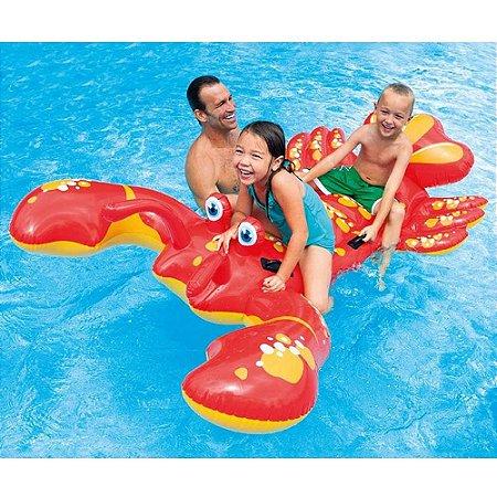 Boia Bote Inflável para Piscina Lagosta Intex - 57528NP
