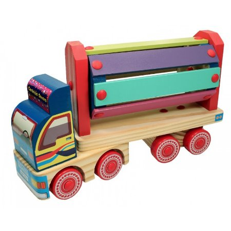 Caminhão de Madeira Sonoro - Carimbras - Brinquedo Educativo em Madeira
