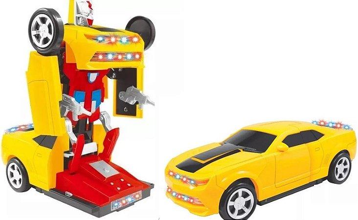 Carrinho Controle Remoto com Transformação Robô Poliblinq - 2238