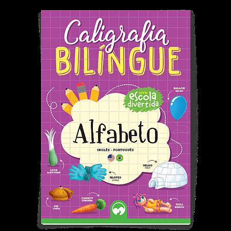 Livro de Caligrafia Bilingue Alfabeto - Escola Divertida