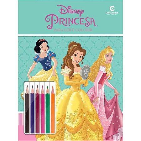 Livro de Colorir Princesas - Ler e Colorir com Lápis de Cor