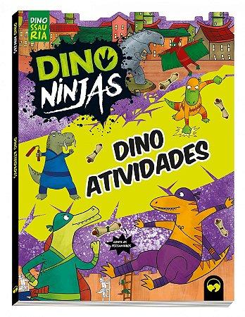 Livro Dino Atividades Ninjas Azul - Dino Ninjas