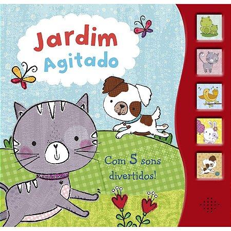 Livro Jardim Agitado com 5 Sons Divertidos!