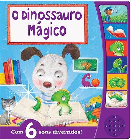 Livro Sonoro O Dinossauro Mágico - Seis sons divertidos