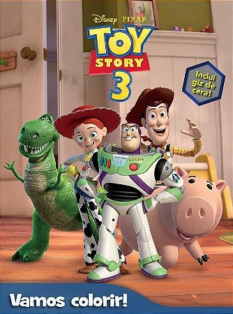Livro Vamos Colorir Toy Story 3