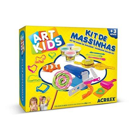 Massinha de Modelar Art Kids Kit com 600g para Modelar - Acrilex