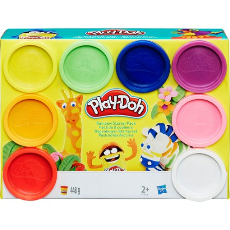 Massinha Play-Doh Kit com 8 Potes Arco-íris - Hasbro