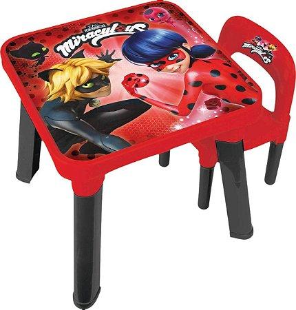 Mesinha com Cadeira - Miraculous - Ladybug - Fun