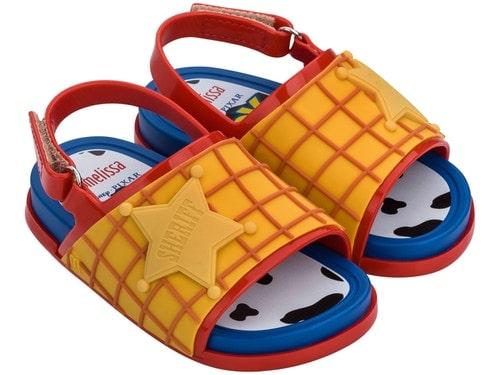 Mini Melissa Beach Slide Toy Story - Amarelo/Azul/Vermelho - Melissa