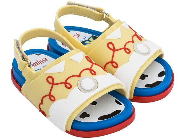 Mini Melissa Beach Slide + Toy Story + Jessy Azul, Amarelo e Vermelho