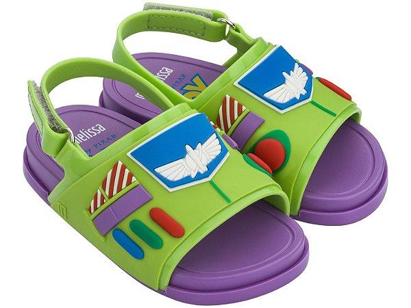 Mini Melissa Beach Slide Toy Story - Verde/Roxo - Melissa