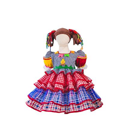Vestido de Festa Junina Infantil Fogueira