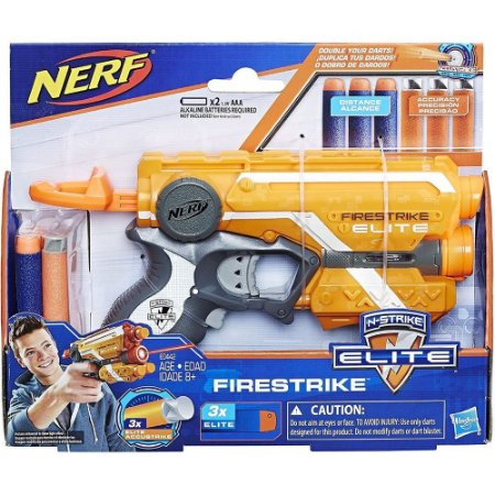 Lançador Nerf N-Strike Elite Firestrike Hasbro - E0442